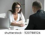 young boss businesswoman... | Shutterstock . vector #520788526