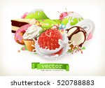 sweet shop. confectionery and... | Shutterstock .eps vector #520788883