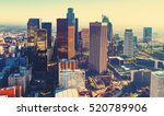 aerial view of a downtown los... | Shutterstock . vector #520789906
