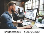 privacy log in user password... | Shutterstock . vector #520790230