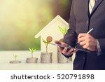 businessman using digital... | Shutterstock . vector #520791898