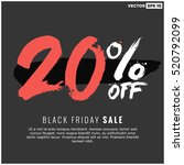 20  off black friday sale ... | Shutterstock .eps vector #520792099