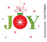joy design with red and green... | Shutterstock .eps vector #520794883
