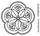 simple flower mandala pattern... | Shutterstock .eps vector #520800520
