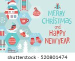 abstract christmas greeting... | Shutterstock .eps vector #520801474