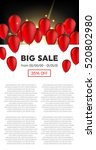 abstract vector black friday... | Shutterstock .eps vector #520802980