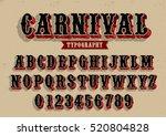 vector of vintage carnival font ... | Shutterstock .eps vector #520804828