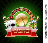 vector casino banner with cards ... | Shutterstock .eps vector #520806898