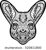 the head of a kangaroo with... | Shutterstock .eps vector #520811800