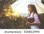asian student  waiting for the... | Shutterstock . vector #520812994