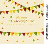 thanksgiving card  | Shutterstock .eps vector #520813630