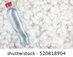plastic water bottle with red... | Shutterstock . vector #520818904