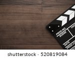 vintage classic clapperboard on ... | Shutterstock . vector #520819084