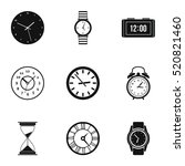 time dimension icons set.... | Shutterstock .eps vector #520821460