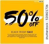50  off black friday sale ... | Shutterstock .eps vector #520821736