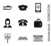 taxi custom icons set. simple... | Shutterstock .eps vector #520822534