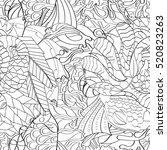 tracery seamless calming... | Shutterstock . vector #520823263