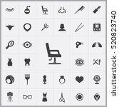 beauty salon icons universal... | Shutterstock .eps vector #520823740