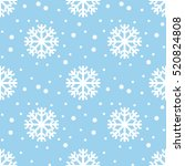 seamless snowflakes pattern... | Shutterstock .eps vector #520824808