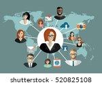 social network  people... | Shutterstock .eps vector #520825108