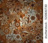 vector floral seamless pattern... | Shutterstock .eps vector #520830730