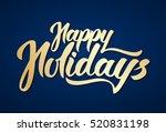 vector illustration  golden... | Shutterstock .eps vector #520831198