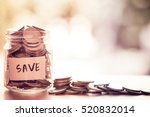 Coins In Glass Jar For Money...