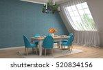 interior dining area. 3d...   Shutterstock . vector #520834156