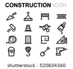 vector line construction icons... | Shutterstock .eps vector #520834360