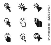 mouse pointer click icons set.... | Shutterstock .eps vector #520834414