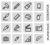 vector line art tools icons set ... | Shutterstock .eps vector #520834528
