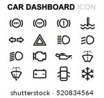 Vector Line Car Dashboard Icon...