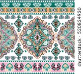 indian floral paisley medallion ... | Shutterstock .eps vector #520834930