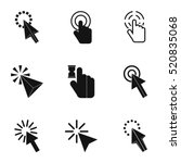 mouse finger icons set. simple... | Shutterstock .eps vector #520835068