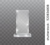 glass trophy award vector... | Shutterstock .eps vector #520836808