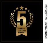 five years warranty background... | Shutterstock .eps vector #520836853