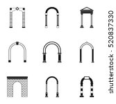 arch icons set. simple... | Shutterstock .eps vector #520837330