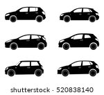 car icon. hatchback. set | Shutterstock .eps vector #520838140