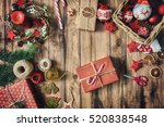 merry christmas and happy... | Shutterstock . vector #520838548