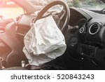 airbag exploded at a car... | Shutterstock . vector #520843243