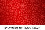 christmas background of big and ... | Shutterstock . vector #520843624
