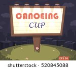 """billboard with """"canoeing  cup""""... 