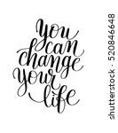 you can change your life... | Shutterstock .eps vector #520846648
