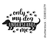 dog lettering. vector card with ... | Shutterstock .eps vector #520851079