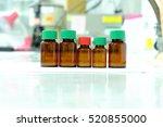brown reagent bottle in