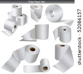toilet paper icons set vector... | Shutterstock .eps vector #52086157