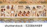 ancient egypt scene.... | Shutterstock .eps vector #520864489