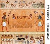 ancient egypt. hieroglyphic... | Shutterstock .eps vector #520865119