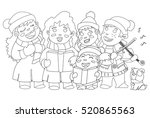 Coloring Book Page. Christmas...