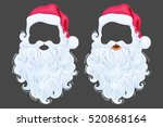 santa claus photo props hat ... | Shutterstock .eps vector #520868164